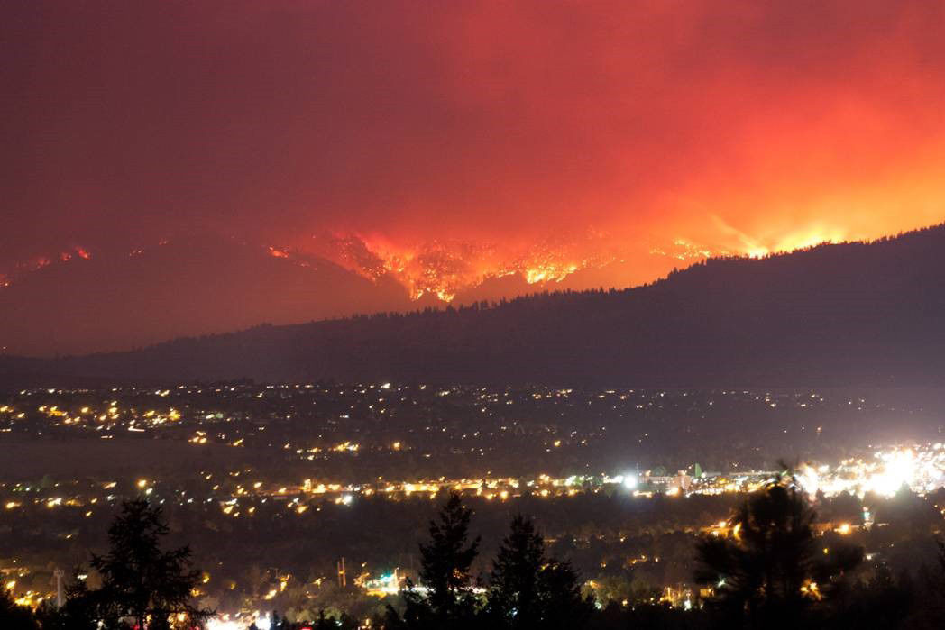 Lolo Creek Fire taken from Rattlesnake Canyon overlooking Missoula